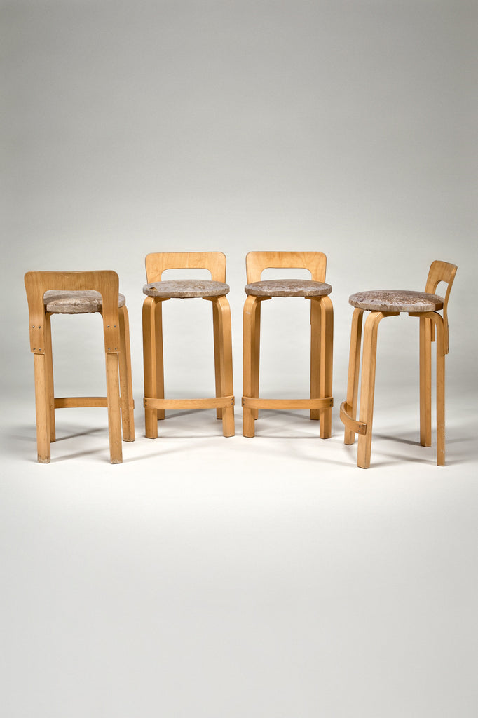 High Chair K65 (set of 4) by Alvar Aalto from Artek 2nd Cycle for sale by the modern archive