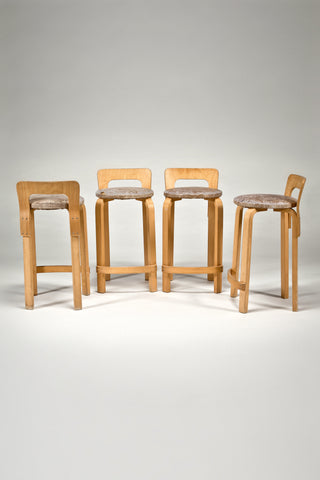 High Chair K65 (set of four) <br/>by Alvar Aalto from Artek 2nd Cycle