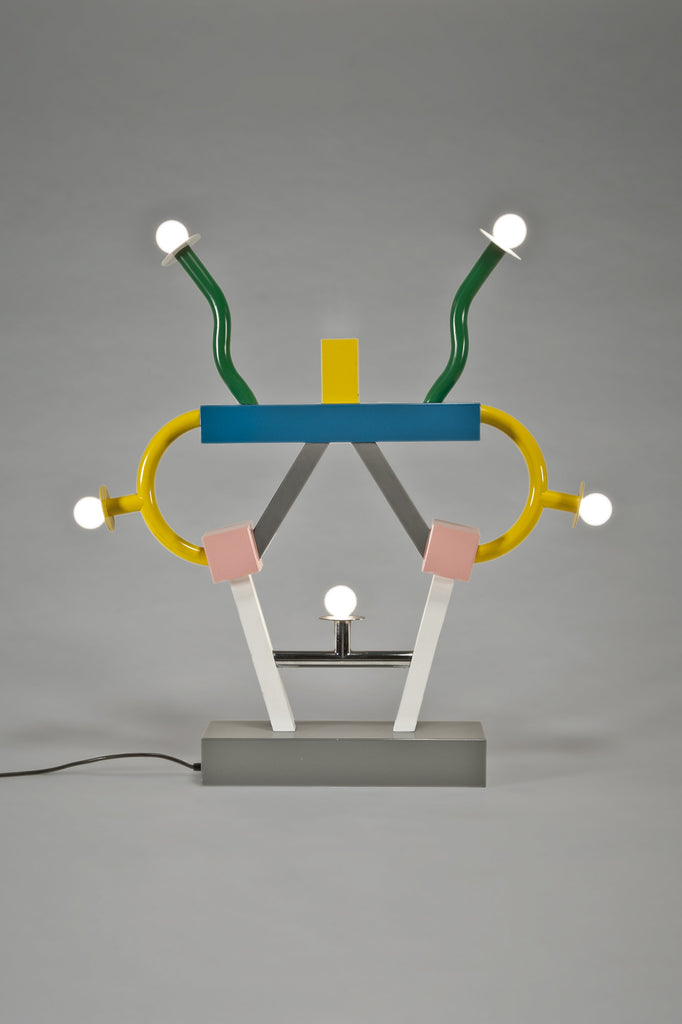 Ashoka Lamp by Ettore Sottsass for Memphis sold by the modern archive
