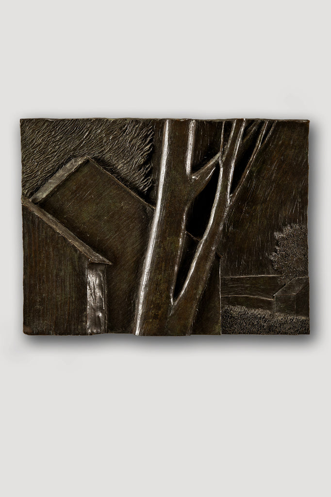 Bronze Bas Relief (Large Landscape) by Robert Kipniss sold by the modern archive