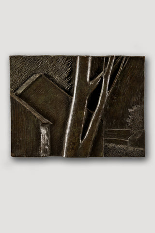Bronze Bas Relief (Large Landscape) <br/> by Robert Kipniss