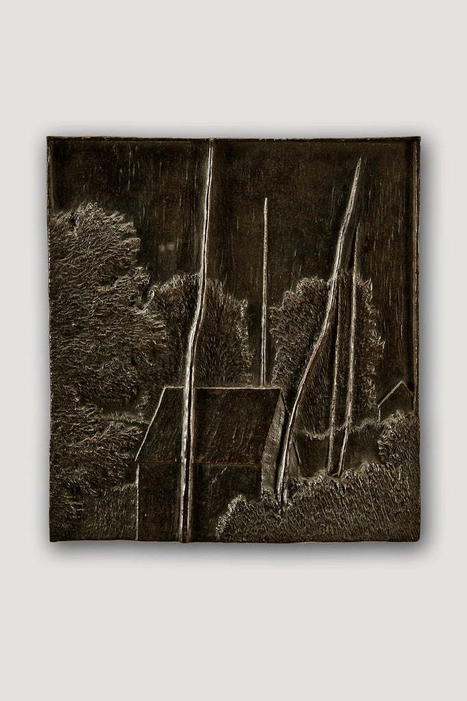 Bronze Bas Relief (Small Landscape) by Robert Kipniss sold by the modern archive