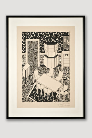 Interior 3 (Limited Edition Silkscreen) <br /> by George Sowden