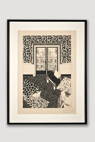Interior 1 (Limited Edition Silkscreen) <br /> by George Sowden