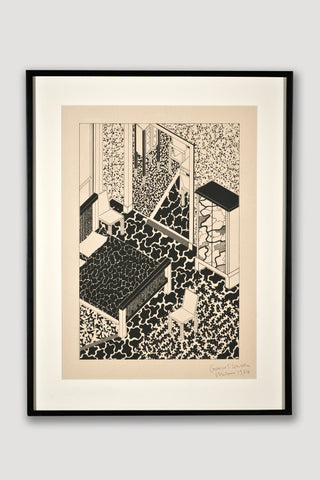 Interior 2 (Limited Edition Silkscreen) <br /> by George Sowden