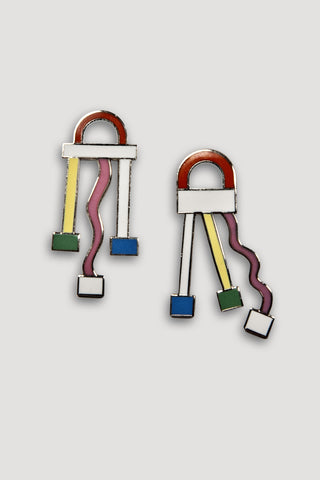 Cometa Earrings <br/> by Ettore Sottsass