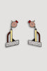 Tahiti Earrings by Ettore Sottsass for Acme Studio sold by the modern archive