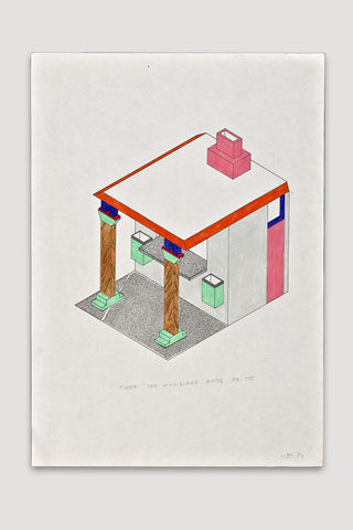 Kiosk per Mangiare Robe Fritte Drawing<br />by Nathalie Du Pasquier
