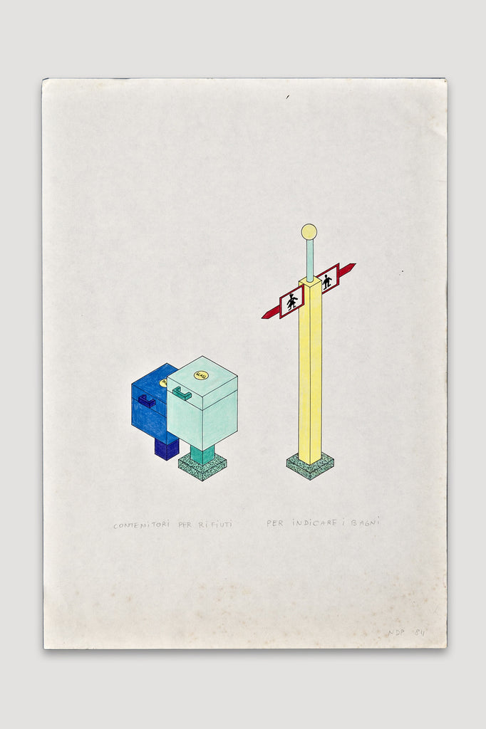 Contenitoi per Rifiuti per Indicare I Bagini by Nathalie du Pasquier sold by the modern archive