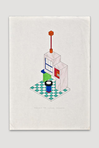 Telefono per Lunghe Chiamate Drawing <br />by Nathalie Du Pasquier