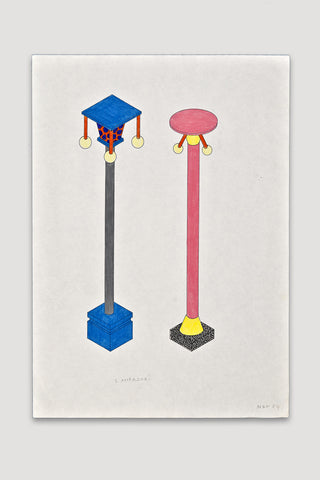 Lampadari (Lamp Posts) Drawing<br/>by Nathalie Du Pasquier