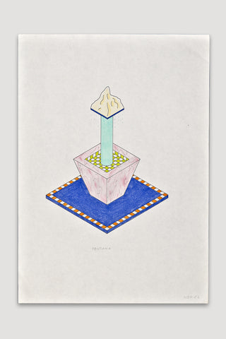 Fontana (Fountain) Drawing<br />by Nathalie Du Pasquier