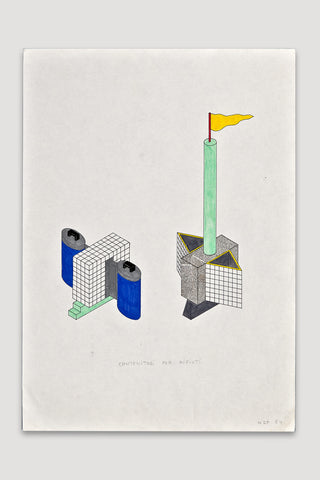 Contenitori per Rifiuti (Trash Container) Drawing <br /> by Nathalie Du Pasquier