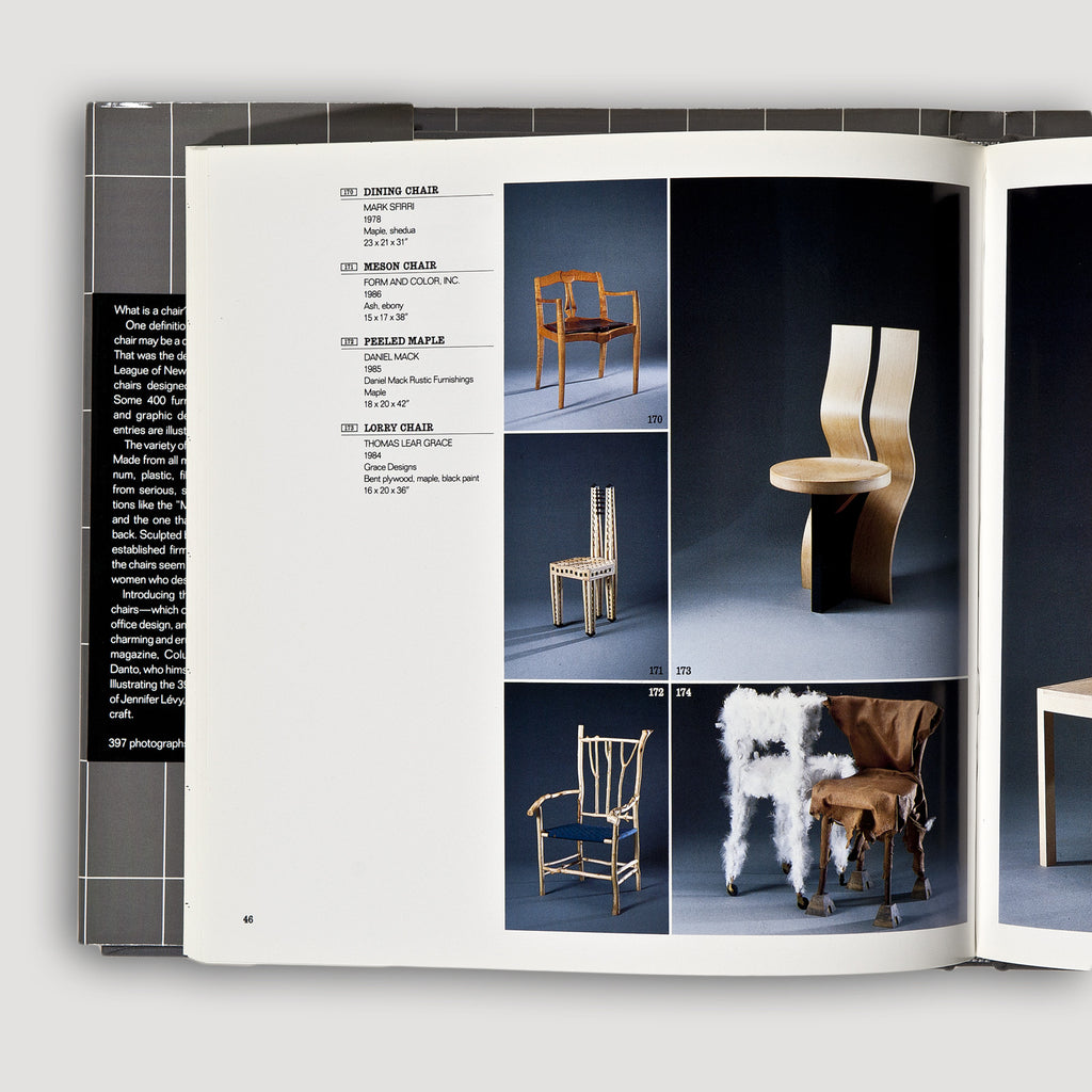 397 Chairs Book With Essay By Arthur C. Danto Sold By The Modern Archive