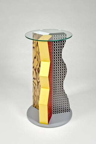 Ivory Pedestal <br/>by Ettore Sottsass for Memphis