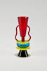 Sirio Glass Vase by Ettore Sottsass for Memphis 1982 sold by the modern archive