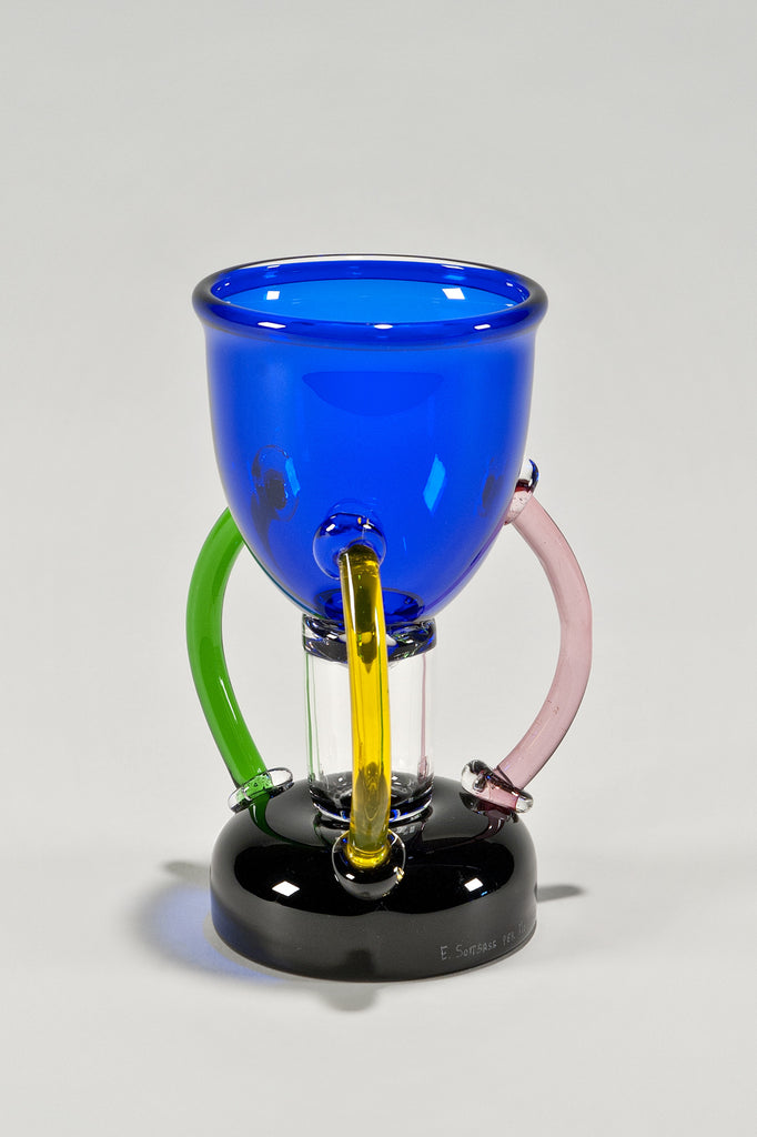 Deneb Glass Vase by Ettore Sottsass for Memphis 1982 sold by the modern archive