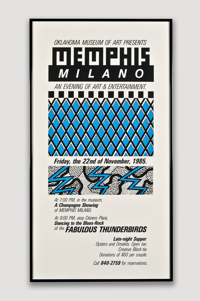 Memphis Milano 1984 Poster from the Oklahoma Museum of Art sold by the modern archive
