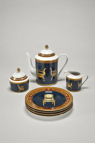 Coffee Set and Dessert Plates with Chairs <br/> by Gucci