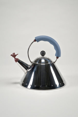 Kettle with Bird Whistle <br/> by Michael Graves