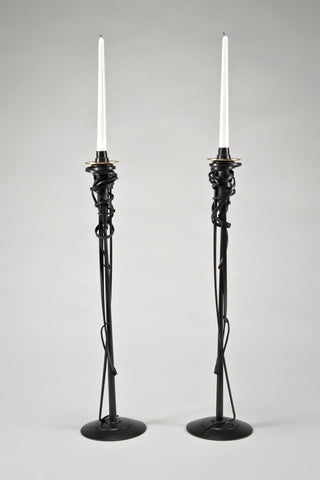 Tall Candleholders <br/>by Albert Paley
