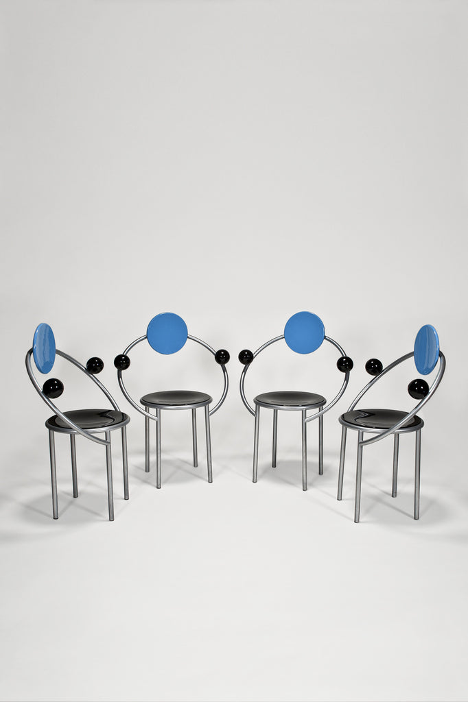First Chair (Set of Four from Bloomingdale's) by Michele De Lucchi for Memphis sold by the modern archive