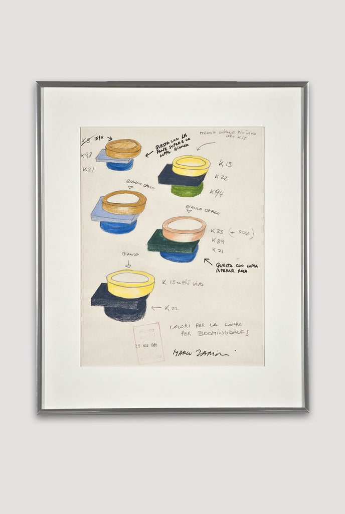 Untitled drawing of Broccoli ceramic by Marco Zanini from Memphis for Bloomingdale's sold by the modern archive