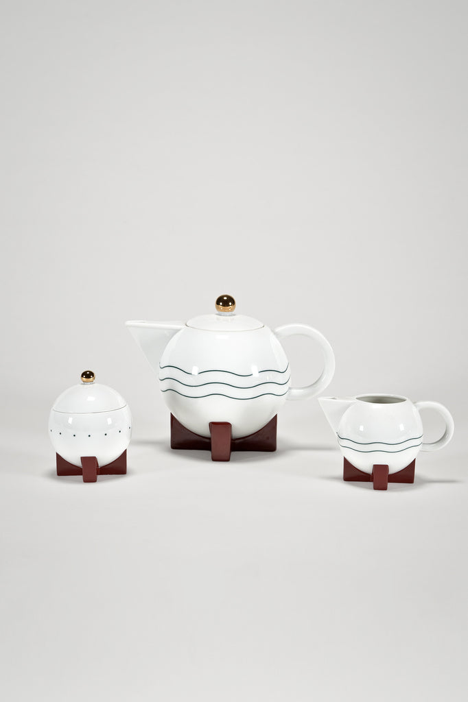 The Little Dripper Coffee Set by Michael Graves for Swid Powell sold by the modern archive
