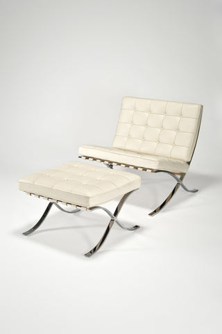 Barcelona Chair and Ottoman <br> by Ludwig Mies van der Rohe