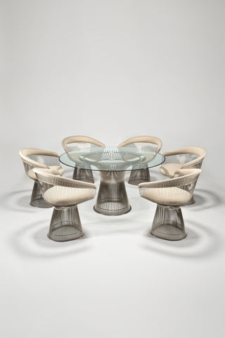 Platner Dining Table and Six Armchairs <br /> by Warren Platner for Knoll