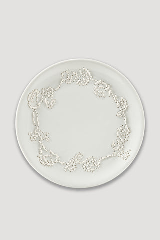 Embroidered Plate from Delft Blue Project <br/> by Hella Jongerius