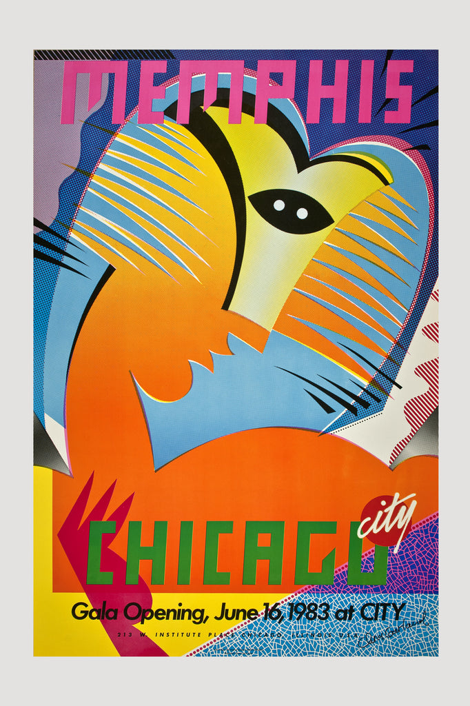 Chicago City Store Memphis Poster 1983 by Chris Garland sold by the modern archive