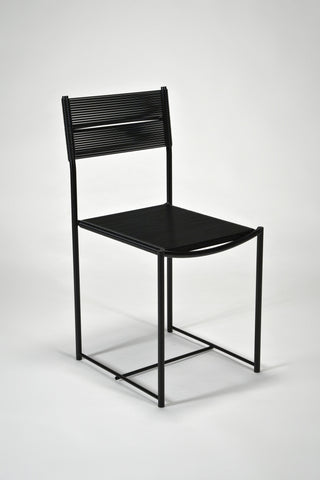 Spaghetti Side Chair in Black <br /> by Giandomenico Belotti for Alias