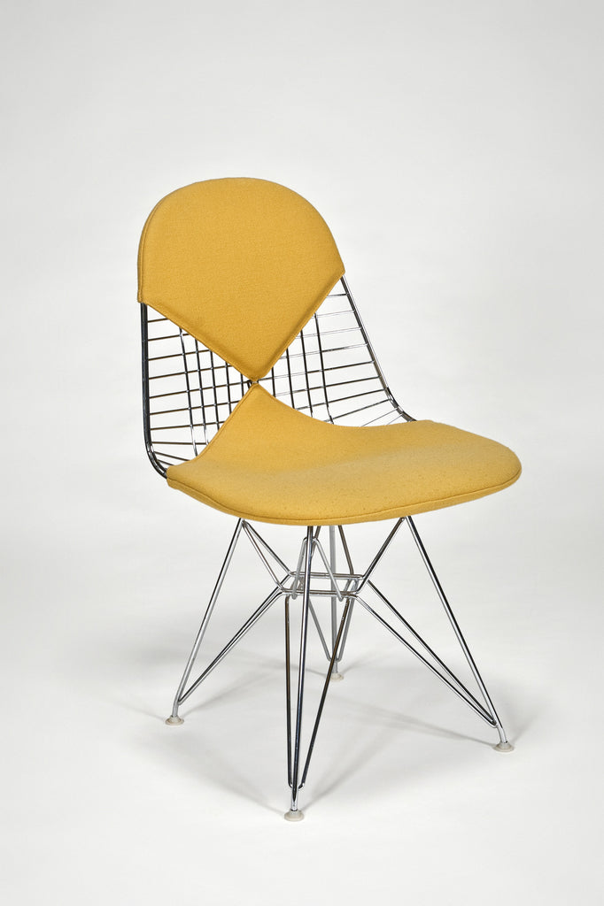 "Wire Side Chair (DKR) with ""Bikini"" Upholstery by Charles and Ray Eames sold by the modern archive"