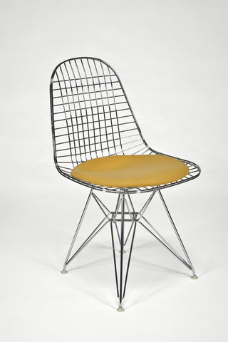 Wire Side Chair (DKR) with Seat Cushion<br/>by Charles and Ray Eames