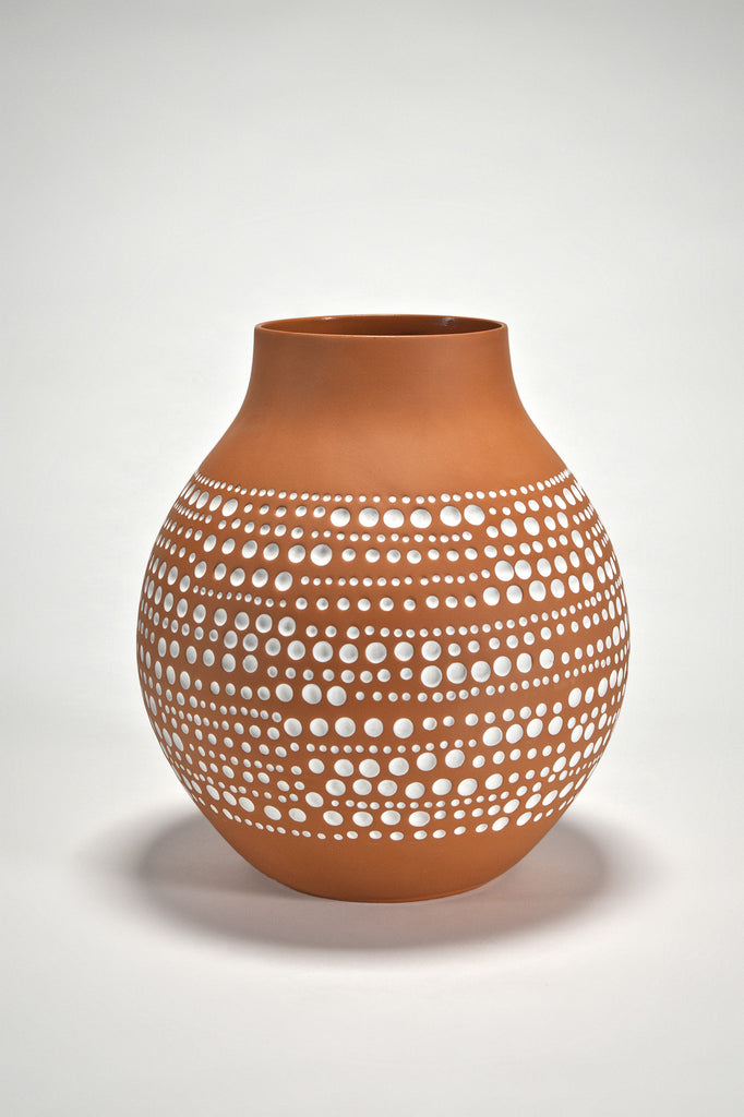 The Modern Archive Jonsberg Vase Terracotta Version By Hella