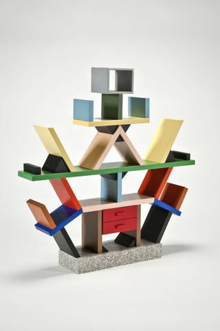 Carlton Bookcase (1:4 Scale Miniature) <br/>by Ettore Sottsass for Memphis