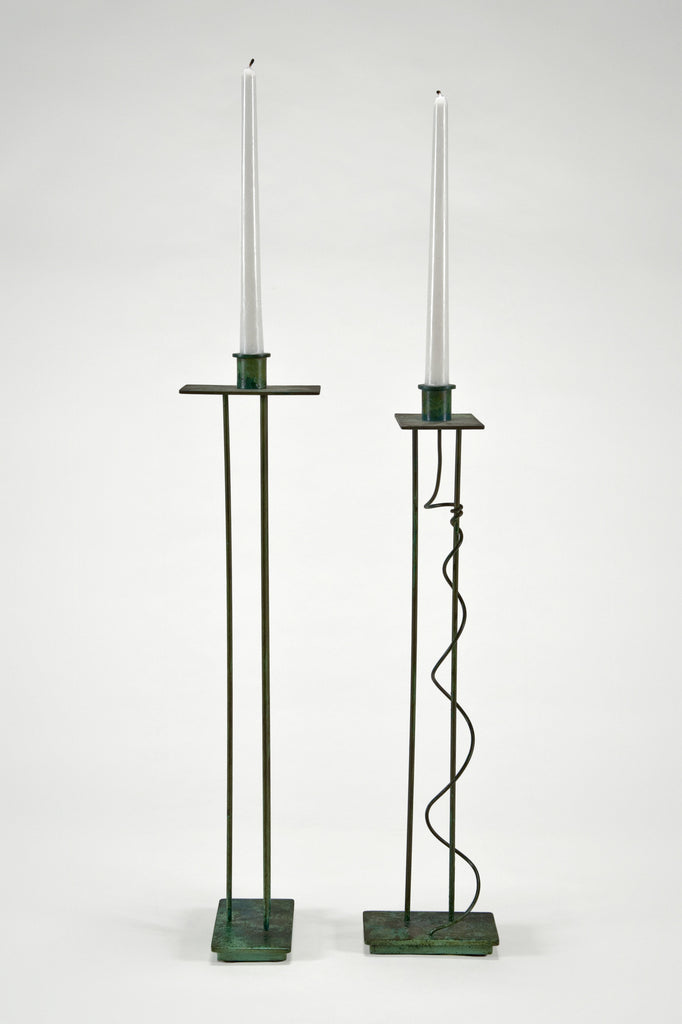 Pair of Candlesticks (Prototypes) by Steven Holl for Swid Powell sold by the modern archive