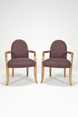 Pair of Castle Arm Chairs<br/> by Wendell Castle