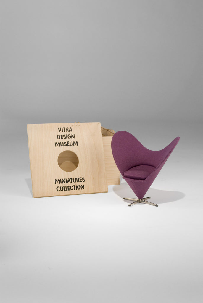 Heart Cone Chair (Miniature) by Verner Panton