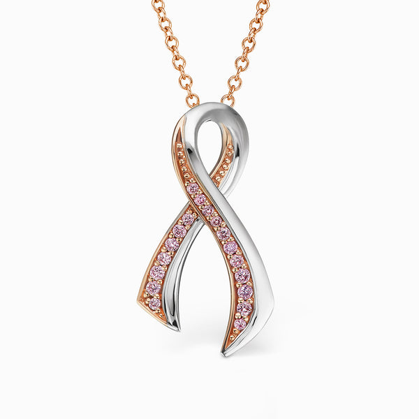 The Argyle Pink™ Diamond Breast Cancer Awareness Ribbon