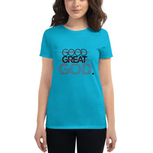 Load image into Gallery viewer, Women's Good Great God short sleeve t-shirt