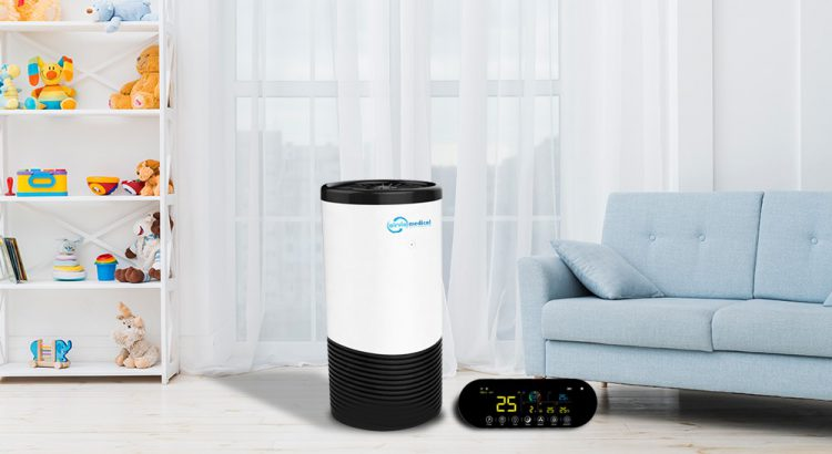 Une purificateur d'air AIRVIA Medical dans un salon