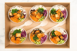 Tofu poke bowl collection