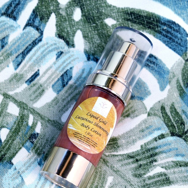 """Liquid Gold"" Luxurious Shimmering Body Lotion"