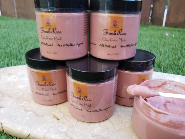 "Luxurious ""French Rose"" Clay Face Mask"