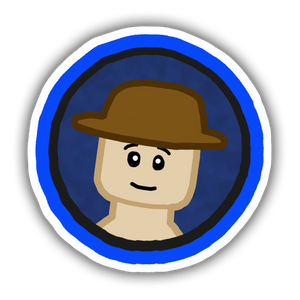 Blue Circle Profile Picture Sticker