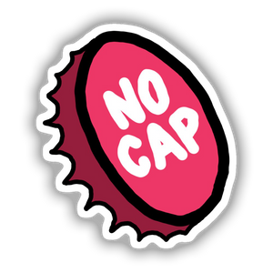 No Cap Sticker