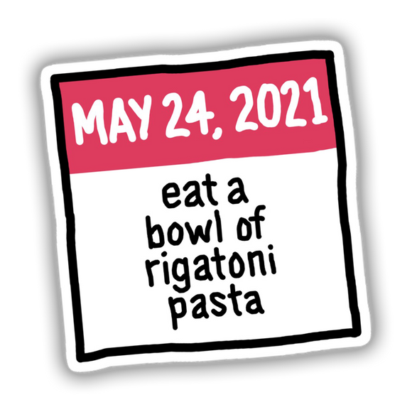 Rigatoni Pasta 2021 Sticker
