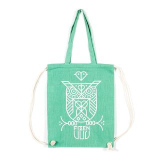 Eulen-Bag green/white